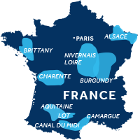 Map showing all French boating regions