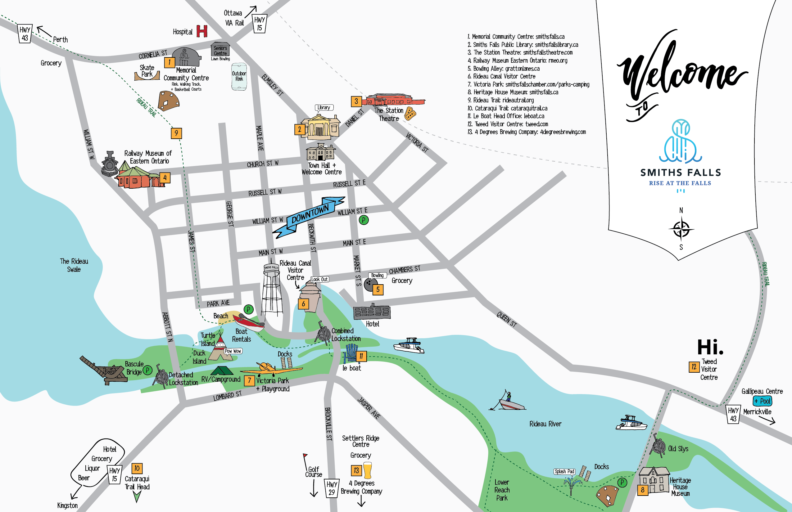 Map of Smiths Falls
