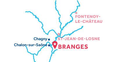 Branges base location map