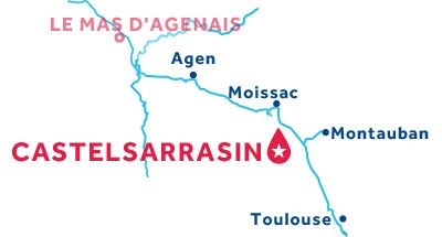 Castelsarrasin base location map