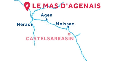 Le Mas d'Agenais base location map