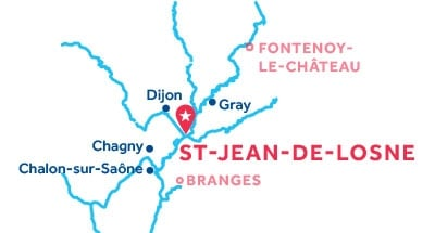 St Jean-de-Losne base location map