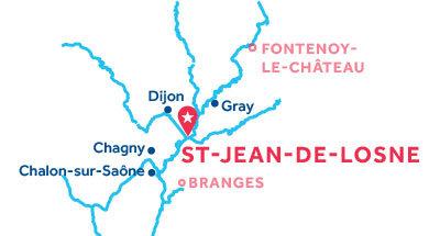 St Jean-de-Losne base location map