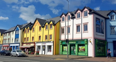 Colourful houses in Carrick-on-Shannon