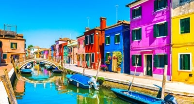 Colourful streets of Burano