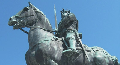 Statue of man on horseback