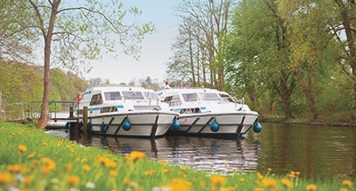 Boats moored in Germany