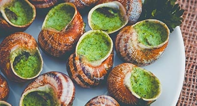 Snails in garlic sauce