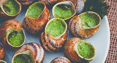 Snails in garlic sauce