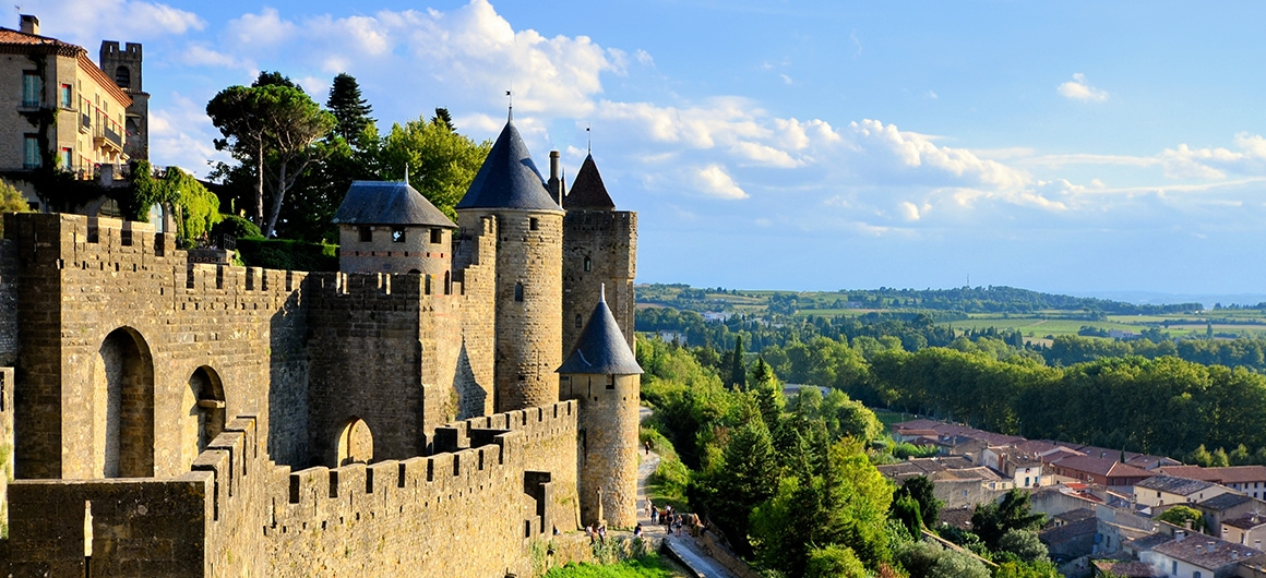 View over Carcassonne, Canal du Midi