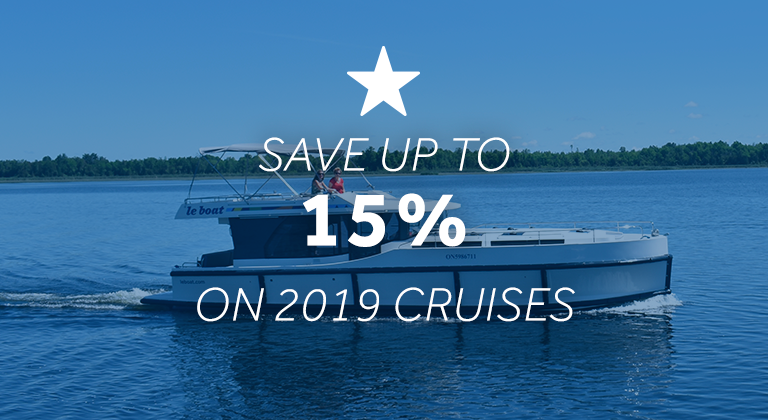 Save up to 15% on your 2019 cruise vacation with Le Boat