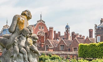 A sculpture in the grounds of Hampton Court Palace