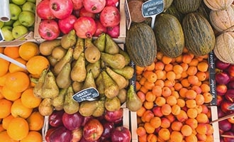 Produce in a market